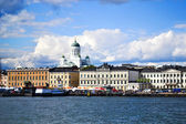 View of Helsinki from the sea — Stock Photo