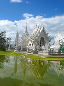 White temple or wat rong khun thailand — Stock Photo