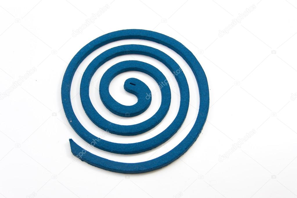 Mosquito repellent incense coil blue — Stock Photo #13140188