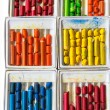 Old wax crayons — Stock Photo