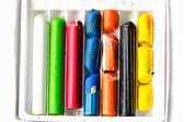Broken crayons — Stock Photo