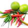 Stock Photo: Chilli and lemon for thai cooking