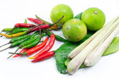 Group of Tomyum(Thai food) seasoning ingredients — Stock Photo