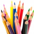 Colour pencils  on white background — Stock Photo