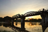 The Bridge of the River Kwai in thailand — Stock Photo