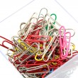 Paper clip on white background,  — Stock Photo