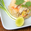 Fried rice with shrimp and crab,Thai cuisine - Stock Photo