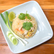 Fried rice with shrimp and crab,Thai cuisine — Stock Photo