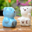 Ceramic bears love — Stock Photo