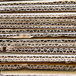 Close-up of stacked corrugated cardboard - Stock Photo