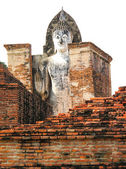 Buddha image in Wat Saphan Hin at Sukhothai Historical Park, Tha — Stock Photo