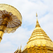Pagoda of Doisuthep temple in Chiang Mai Thailand — Stock Photo