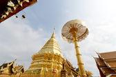 Pagoda of Doisuthep temple in Chian Mai Thailand — Stok fotoğraf