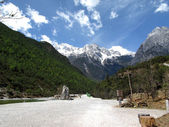 Blue moon valley,Lijiang, China — Stock Photo