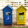 Stock Photo: Colored Bins For Recycle Materials