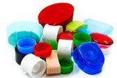プラスチック リサイクル、ボトルのキャップ — ストック写真