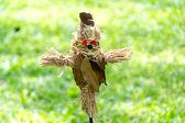Scarecrow in garden — Stock Photo
