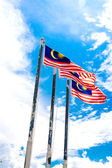 Malaysian national flag — Stock Photo