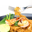 Stock Photo: Thai style noodles, local named Pad Thai