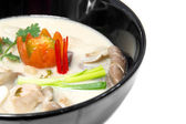 Thai Chicken Soup in Coconut Milk or tom kha kai — Stock Photo