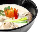 Thai Chicken Soup in Coconut Milk or tom kha kai — Stock Photo