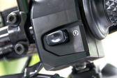 Motorcycle handlebar controls — Stock Photo