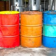 Stock Photo: Oil barrels
