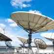 Satellite dishes antenna  on roof — Stock Photo