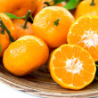 Fresh juicy tangerines in bowl — ストック写真 #41632813
