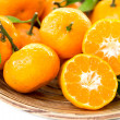 Fresh juicy tangerines in bowl — ストック写真 #41632883