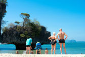 KRABI,THAILAND - March 7:Phak Bia Island a small isle located be — Stock Photo