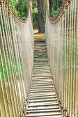 Ponte de corda no parque — Fotografia Stock