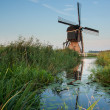 Dutch landscape with windmill — Stock Photo