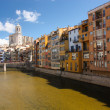Historical city of girona — Stock Photo