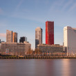 Skyline rotterdam harbor — Stock Photo
