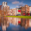 Rotterdam architecture reflected in river — Stock Photo #36008395
