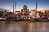 Historical city of Dordrecht — Stock Photo