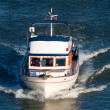 Small pleasure yacht — Stock Photo