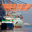 Stock Photo: Container ships port Rotterdam
