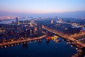 Rotterdam nacht — Stockfoto