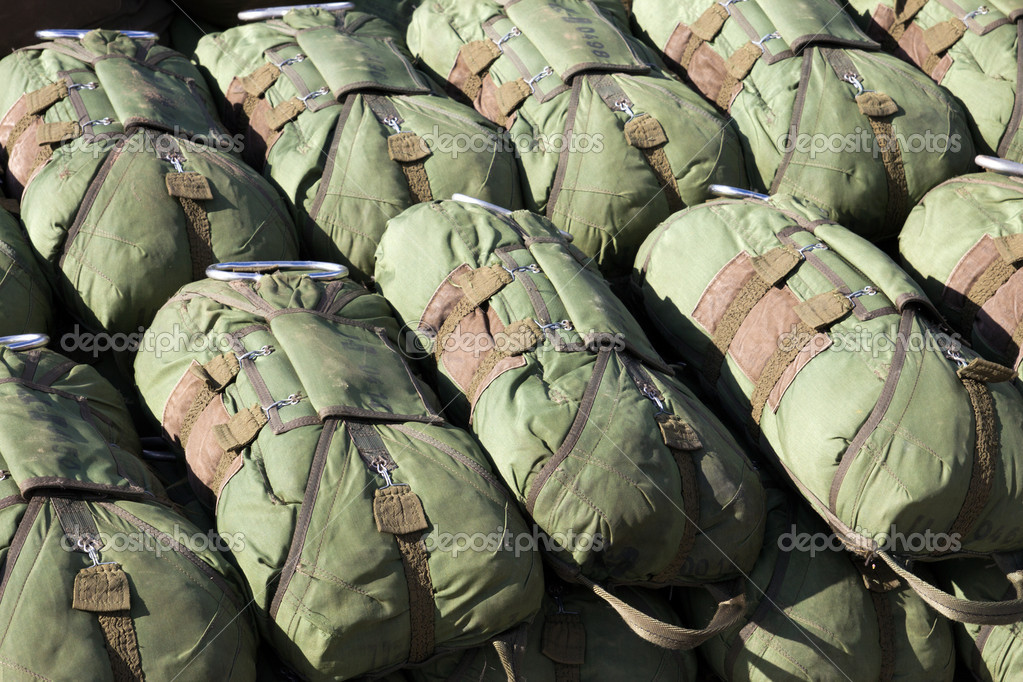 Paratrooper parachutes  — Stock Photo #13429105