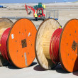 Stock Photo: Cable reels