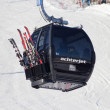 Stock Photo: Ski lift cable booth