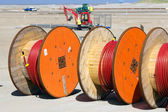 Cable reels — Stock Photo