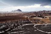 Island vulkanischen landschaft — Stockfoto