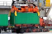 Crane container — Stock Photo