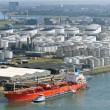 Stock Photo: Oil tanker terminal