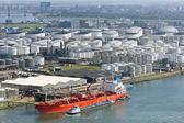 Oil tanker terminal — Stock Photo