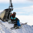 Stock Photo: Ski piste lift