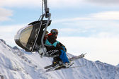 Ski piste lift — Stock Photo